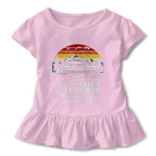 Deck The Halls with Salt and Iron Impala La La La Ruffled Shirt Short Sleeve Pink (Deck The Halls With Salt And Iron Shirt)
