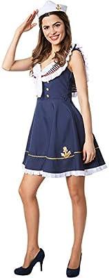 dressforfun 900504 Disfraz de Mujer Marinera Grumete, Traje de ...