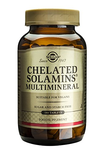 Solgar Chelated Solamins Multimineral Tablets, 180 Count
