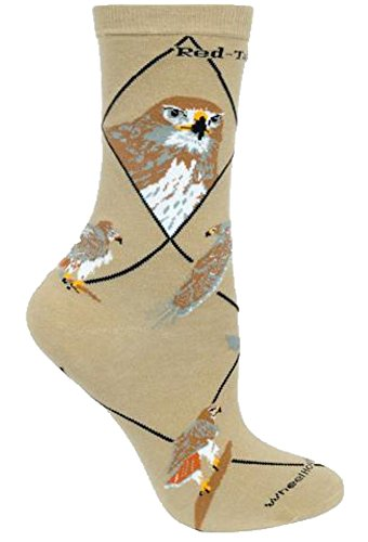 Red Tail Hawk Novelty Adult Size 9-11 Socks by Wheel House Designs USA Made SKU PH1728