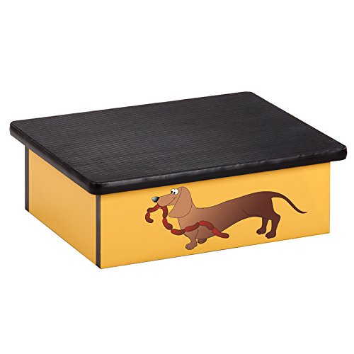 Pediatric Equipment - 20'' x 16'' x 7'' Sausage Dog Laminate Pediatric Step Stool - CL-10-AC-2 by Miller Supply Inc