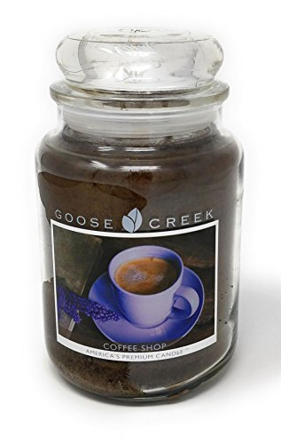 COFFEE SHOP SCENTED BROWN GOOSE CREEK 24OZ 150 HOURS CANDLE JAR