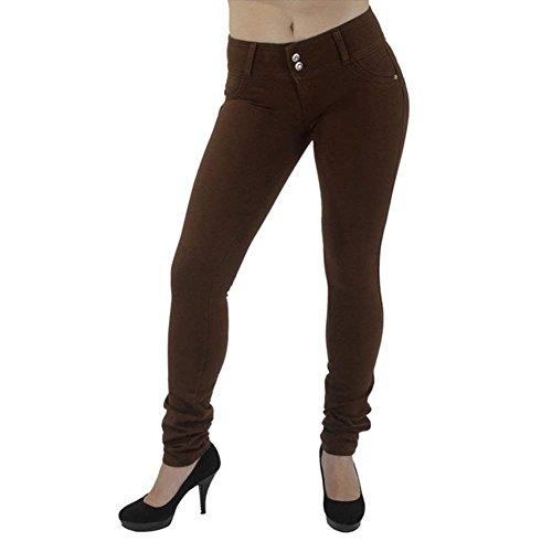 Coffee Monocromo Matita Accogliente Pants Pantaloni Lunghi Eleganti Pantaloni Donna Pantaloni Fashion Dark Elastico Grazioso Allentato Anaisy Women Giovane Donna Tempo Libero Per Skinny aB6qZYg