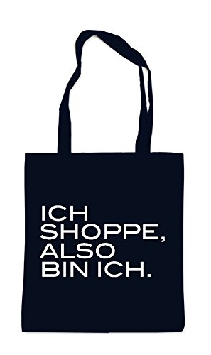 Ich Shoppe Also Bin Ich Bag Black