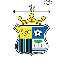 Real Sport Clube Massama Portugal Soccer Football Club FC 2 Stickers Car Bumper Window Sticker Decal Huge 18 inches