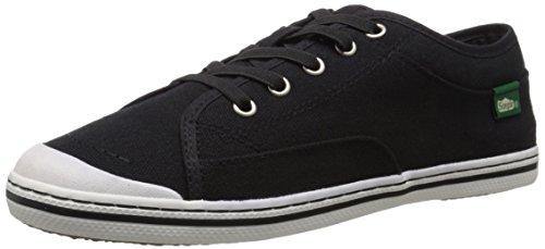 Canvas Simple Sneakers (Simple Women's Satire Fashion Sneaker, Black, 10 M US)