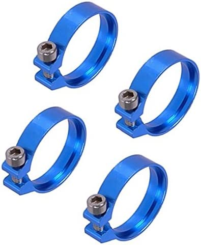Phobya Hose Clamp with Hexagonal Socket, 17.8mm to 19mm (3/4″), Blue, 4-Pack