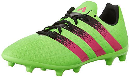 Adidas Prestanda Mens Ace 16,3 Fg / Ag Fotboll Sko Chock Grön / Chock Rosa / Svart