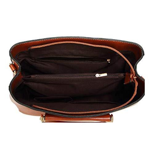 Bag 4 Mode à DM 12 Brown1 Couleurs Sac 018 CM capacité Mlle PU Grande ANLEI Sac Main Messenger 32 23 à bandoulière zFnpwzZq6