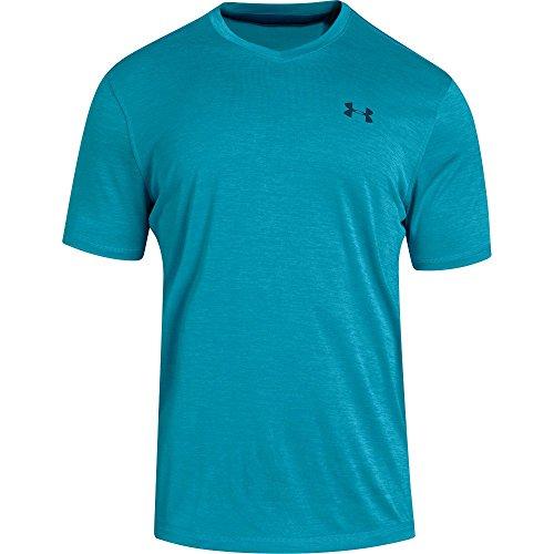 Under Armour Mens Tech V-Neck T-Shirt, Deceit (439)/Techno Teal, Medium