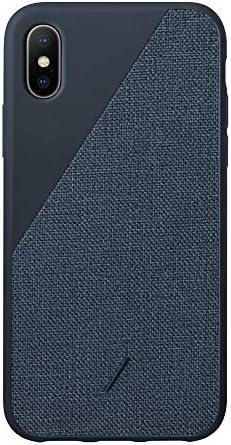 NATIVE UNION CLIC Canvas Case iPhone X/XS対応 - プレミアム織布カバー スマホケース (ネービー)