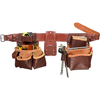 Occidental Leather 5080DBLH M Pro Framer Tool Belt Set with Double Outer Bags, Left Hand, Medium