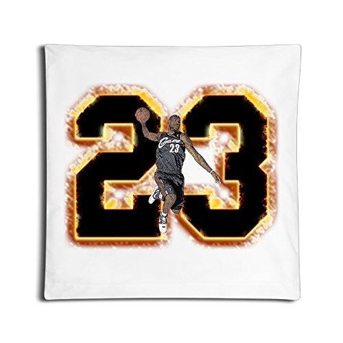DUOLA King Swingman #23 Throw Pillow Case 18'' Inches Square White
