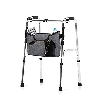 Olivia & Aiden Walker Bag - Wheelchair Pouch for Standard Walkers, Wheelchairs, Bariatric Walkers, and Dual-Point Folding Walkers - Keeps Your Necessities, Accessible and Organized