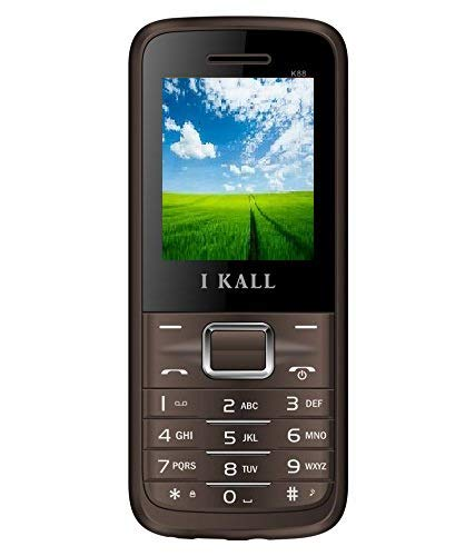 IKALL K88 Dual Sim Feature Phone, 64 MB Internal memory  Brown  Basic Mobiles