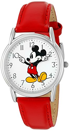 - Disney Women's 'Mickey Mouse' Quartz Metal Watch, Color:Red (Model: W002753)