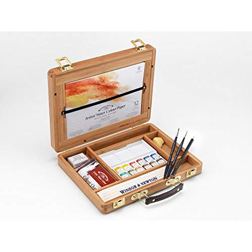Newton Cotman Watercolour Tube - Winsor & Newton Artists' Water Colour Half Pan Bamboo Box Set