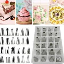 [NEW 24 Pcs Icing Piping Nozzles Pastry Tips Cake Sugarcraft Elegance Decorating Set Of Tools #54] (Donut Costume Pinterest)