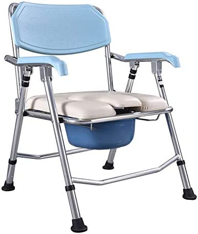 Bedside Commodes Bedroom Toilet Chair, Toilet Seats & Commodes Toilet Shower Toilet, Folding Portable Commode Toilet seat and Frame for The Disabled, Elderly/Pregnant/Disabled Toilet Chair