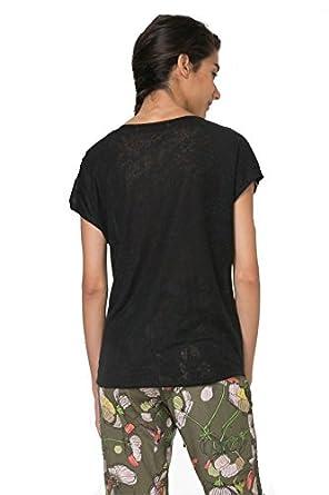 Desigual S Oceano es Amazon Accesorios Negro Ropa Camiseta Y qwrEaRq