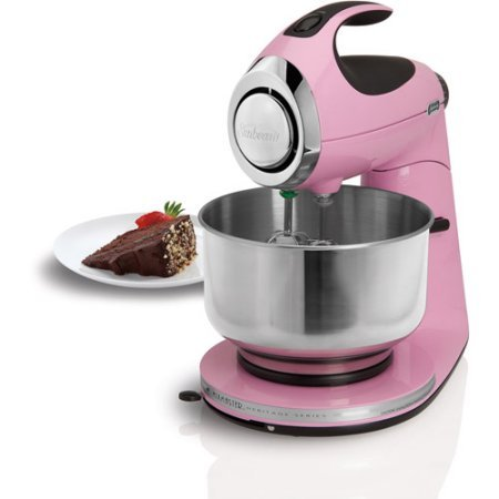 3-Way Mixing Action | Sunbeam Heritage Series Stand Mixer - (Pink - De Newark Mall