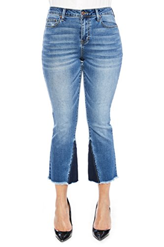 Zelle Belle Women's Mid Rise Missy Fashion Crop Denim ()