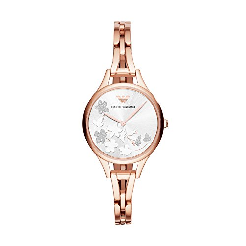 Emporio Armani Women's 'Dress' Quartz Stainless Steel Casual Watch, Color:Rose Gold-Toned (Model: - Gold Armani