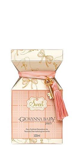 Amazon.com : Linha Sweet Giovanna Baby - Deo Colonia Peach 100 ml ...