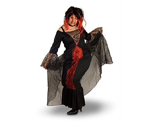Sunnywood Women's Plus-Size Lava Diva Vampiress Costume, Black/Red,