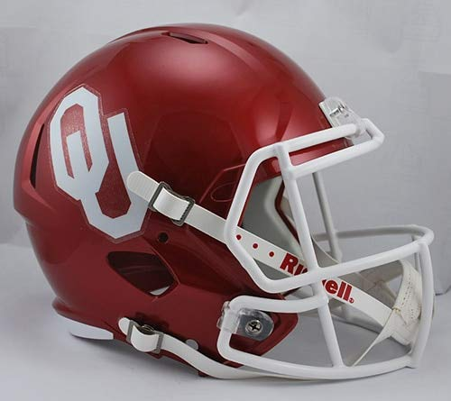 NCAA Oklahoma Sooners Full Size Speed Replica Helmet, Red, Medium