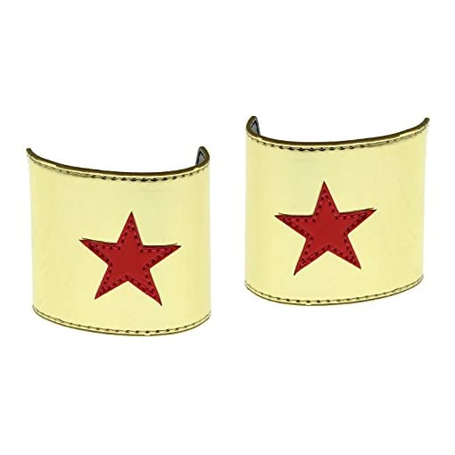 Wonder Woman Cuff and Tiara Adult Cosplay Costume Set Gold