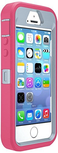 OtterBox Defender Case for Apple iPhone 5/5s/SE - Pink/Grey (Case Only, No Holster)