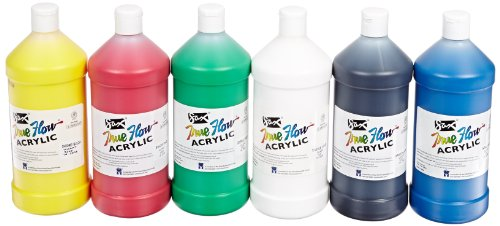 Sax True Flow Heavy Body Acrylic Paint, Quarts, Assorted Colors, Set of 6 - 409812