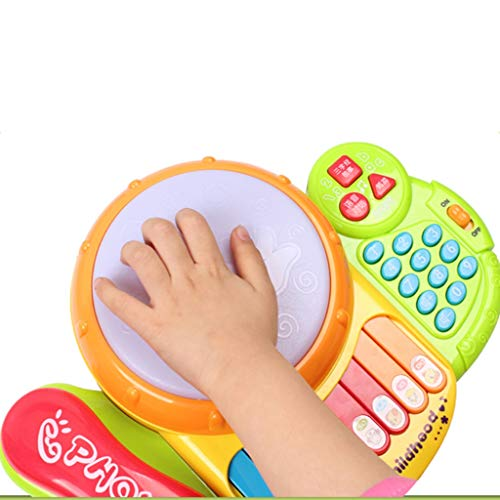 LIPENG-TOY Children's Telephone Music Pat Drums Songs Music Music Keyboard Player Drums Baby Early Education Educational Toys (Color : Yellow) by LIPENG-TOY (Image #2)