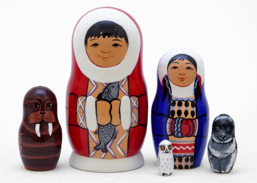 Eskimo Nesting Doll 5pc./5""