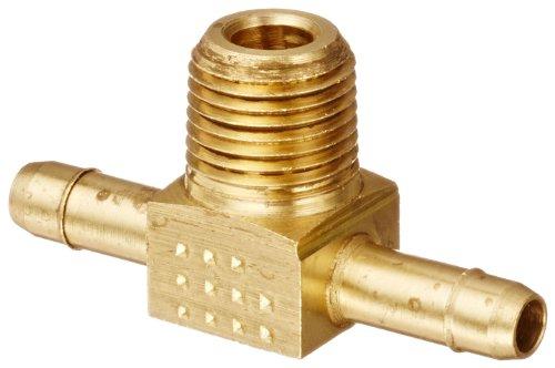 Eaton Weatherhead 1072X4 Brass CA360 Mini-Barb Brass Fitting, Branch Tee, 1/4