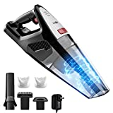 Handheld Vacuum Cordless, Holife 8KPA Hand Vacuum Cleaner Rechargeable Hand Vac, 21.9V Lithium 100W Strong Motor with Cyclone Suction, Lightweight Wet Dry Vacuum for Home Pet Hair Car Cleaning