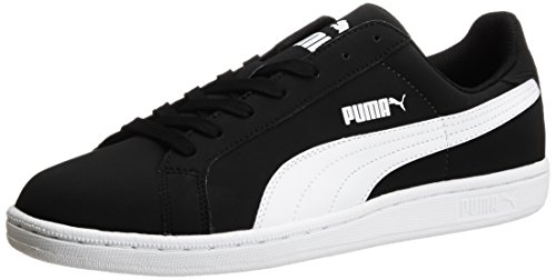 Puma Unisex Adults' Smash Nubuck Low-Top Trainers Black (Black/White 02) OoTTEAcgo