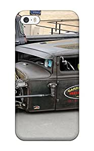 Iphone 5/5s Case Cover - Slim Fit Tpu Protector Shock Absorbent Case (hot Rod Vehicles Cars Hot Rod)
