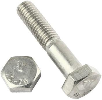 ISO 4014 en acier inoxydable A2 Lot de 4 vis /à t/ête hexagonale avec tige DIN 931 V2A