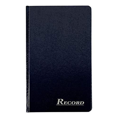Adams Record Ledger, Hard Bound Textured Cover, 7.5 x 12.25 Inches, 150 Acid Free Pages, Navy (ARB712R1M)