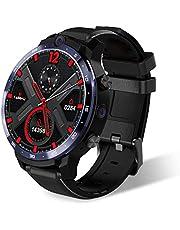 LEM12 Multifunktionell Smart Watch, 4G Ansiktsigenkänning 1,6-tums helskärm, Android7.1, 3G RAM + 32G ROM, GPS, WiFi, Nya funktioner för män och kvinnor Presenter,A