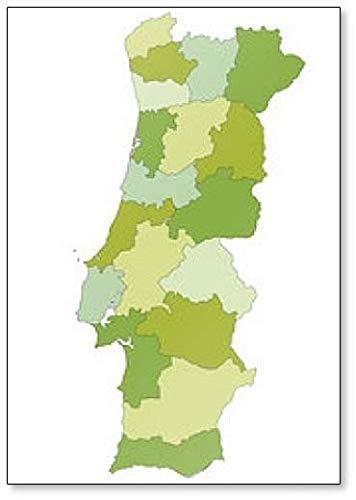 Amazon Com Political Map Of Portugal Classic Fridge Magnet