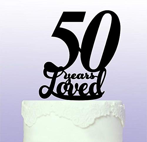 Beautiful 50th Cake Topper 50 Years by Tamengi