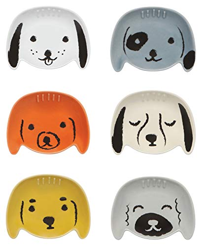 Now Designs L46004aa Pinch Set/6 Puppy Love Serving Bowls, Multi Big Love Ice Cream Bowl