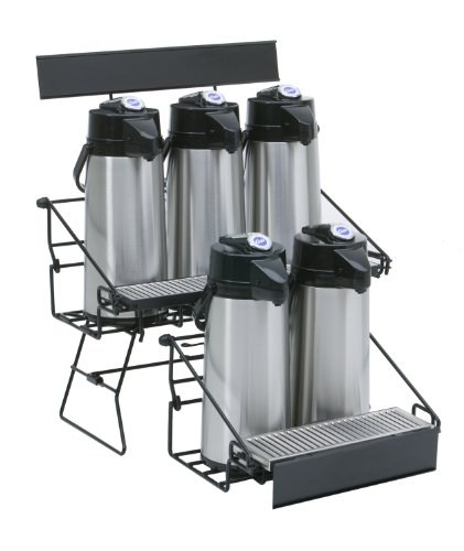 Wilbur Curtis  5 Position Wire Airpot Rack - Compact Design with Integral Drip Tray - WR5B0000 (Each)