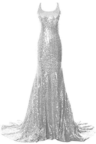 MACloth Women Mermaid Long Prom Dress Open Back Wedding Formal ...