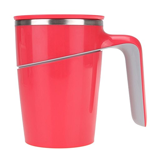 Stainless Double Wall Cup Drinking Suction Leakage Proof Capacity Tumbler Rose Color