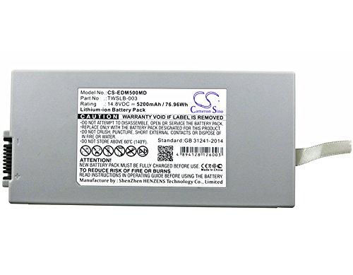 EDAN 01.21.064143,TWSLB-003 Battery - Replacement for EDAN M50,M80(Li-ion,14.80V,5200mAh / 76.96Wh) by Cameron Sino