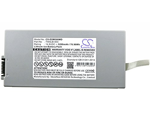 EDAN 01.21.064143,TWSLB-003 Battery - Replacement for EDAN M50,M80(Li-ion,14.80V,5200mAh / 76.96Wh ) by Cameron Sino
